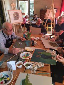 Activiteiten - met z'n allen schilderen